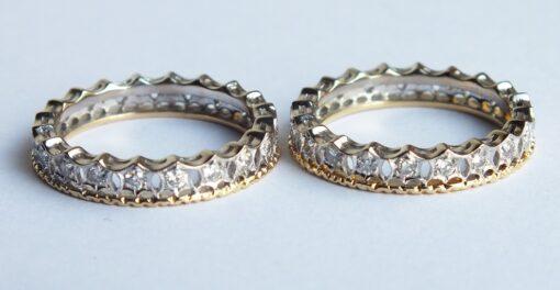 Pair of Eternity Diamond Wedding Bands